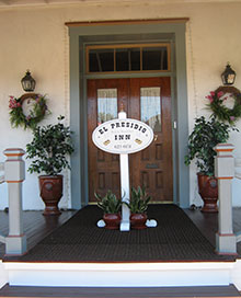Front Door to El Presidio bed and Breakfast - Tucson
